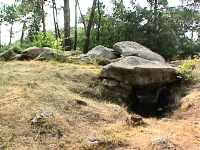 toulvern tumulus, entrance to dolmen